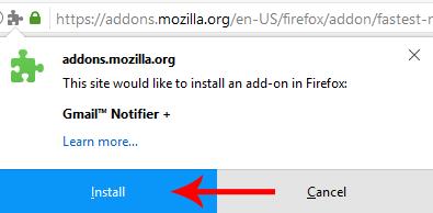 افزونه در مرورگر فایرفاکس