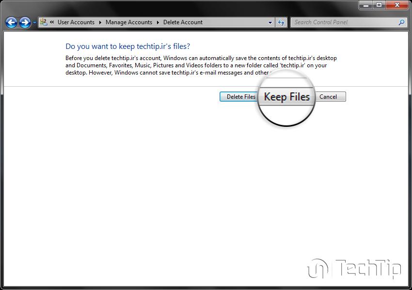آموزش حذف حساب کاربری ویندوز