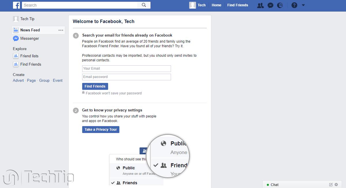 ساختن اکانت فیسبوک
