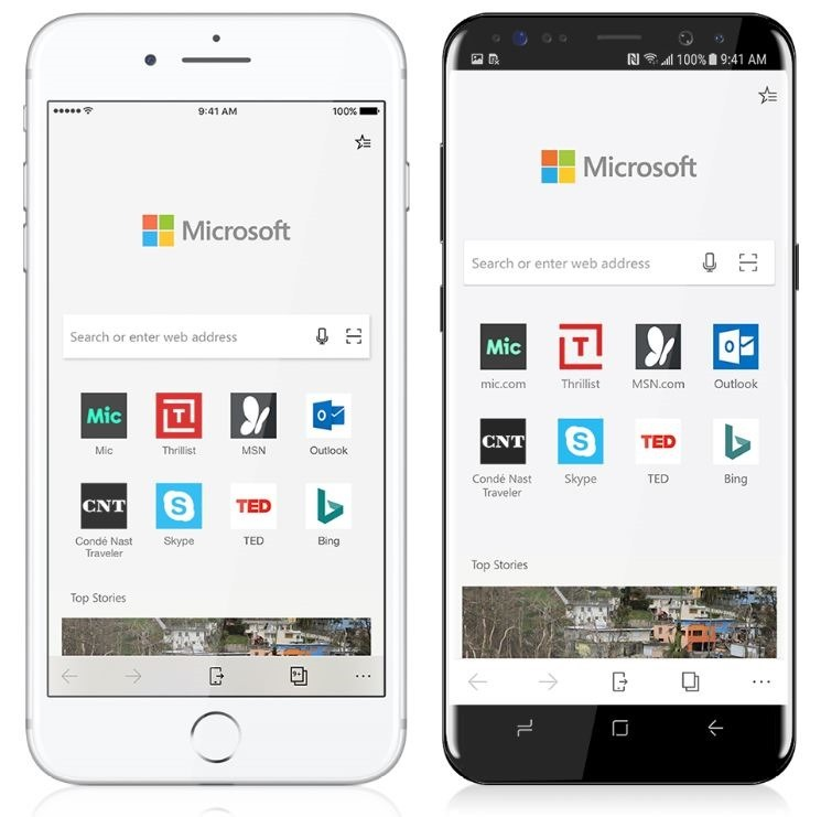 Microsoft Edge برای اندروید و IOS