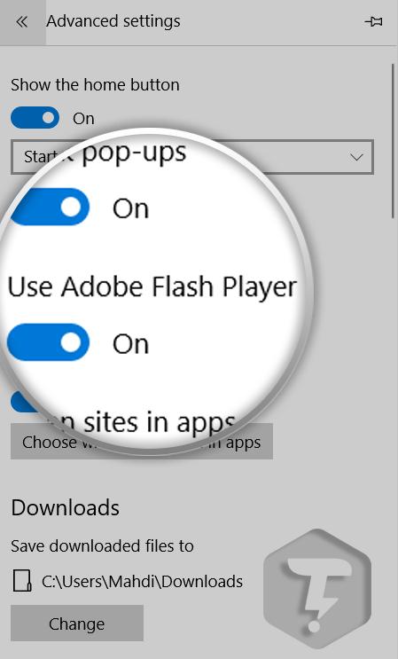 غیرفعال کردن Adobe Flash Player