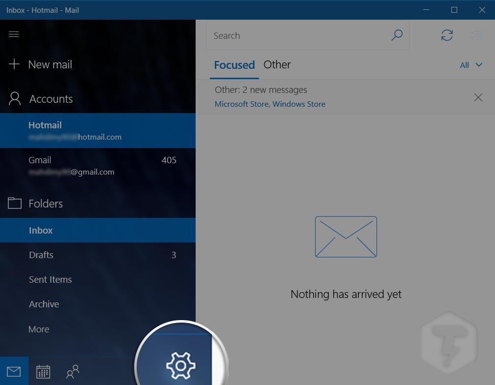 حذف کردن ایمیل از برنامه Mail ویندوز 10