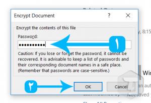 گذاشتن رمز روی فایل پاورپوینت