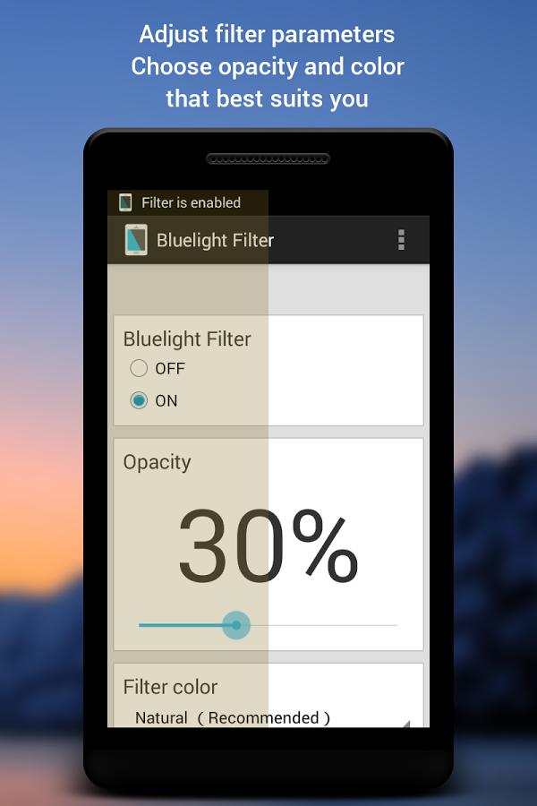 دانلود نرم افزار Blue Light Filter for Eye Care برای گوشی های اندروید در مارکت های مختلف