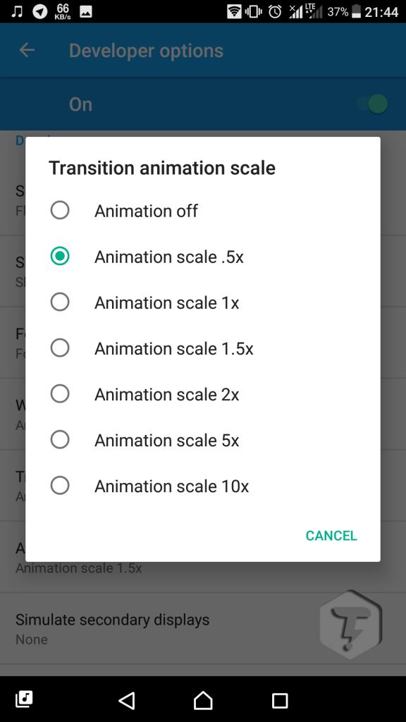 افزایش سرعت انیمیشن ها در اندروید