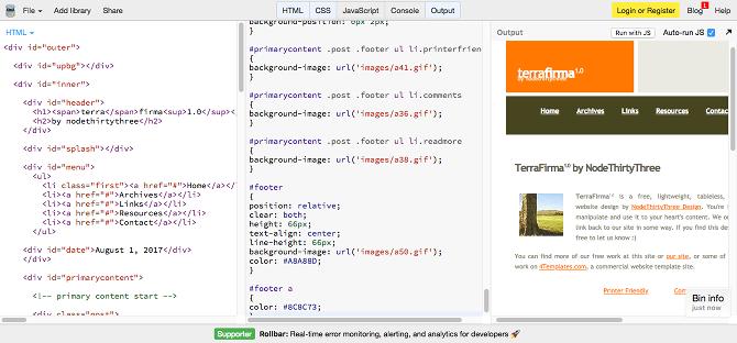 معرفی وبسایت برای اجرا و نوشتن کدهای HTML