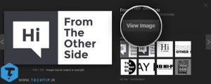 بازگرداندن و اضافه کردن دکمه ی View Image در جستجوی عکس گوگل