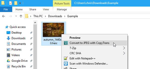 باز کردن فایل HEIC در ویندوز