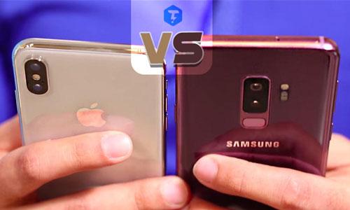 GalaxyS9+-VS-iPhoneX-techtip