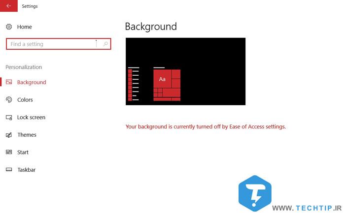 عوض نشدن تصویر بک گراند در ویندوز 10