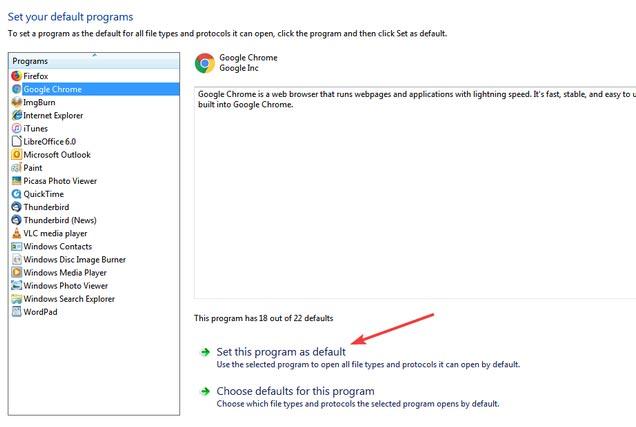 تغییر مرورگر پیشفرض در ویندوز