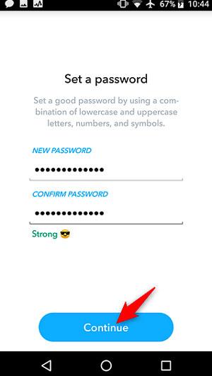بازیابی رمز عبور اسنپ چت