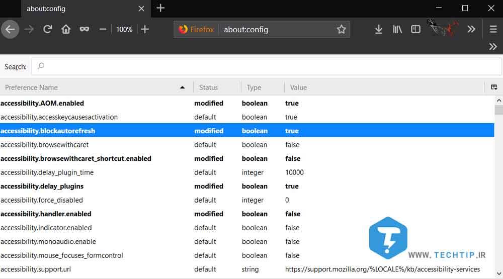 افزایش سرعت مرورگر فایرفاکس با استفاده از بخش Config