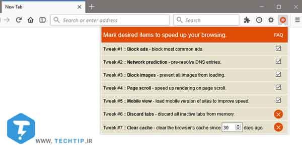 افزایش سرعت فایرفاکس با افزونه Speed Tweaks
