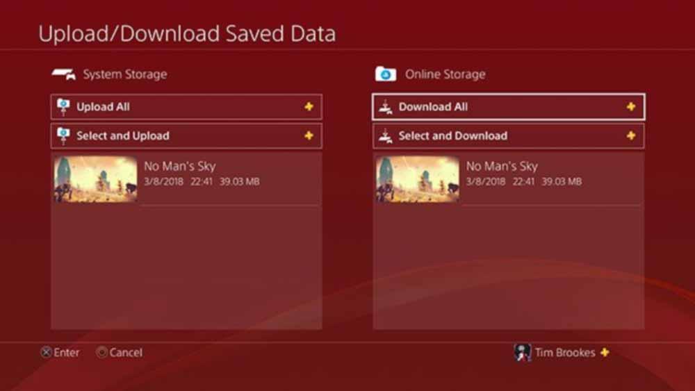 انتقال اطلاعات و داده های ذخیره شده بازی در PS4