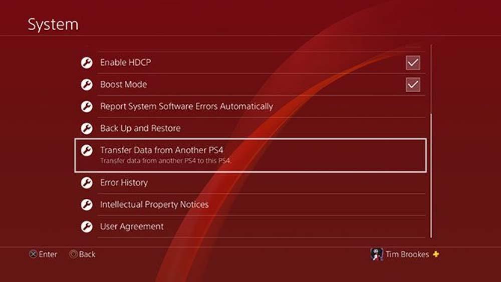 انتقال اطلاعات از PS4