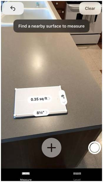برنامه Measure برای اندازه گیری در آیفون