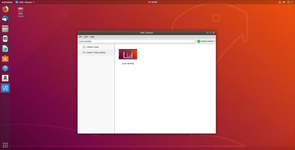 نرم افزار کنترل کامپیوتر از راه دور برای لینوکس