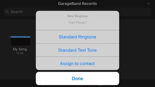 ساخت رینگتون آیفون یا استفاده از GarageBand