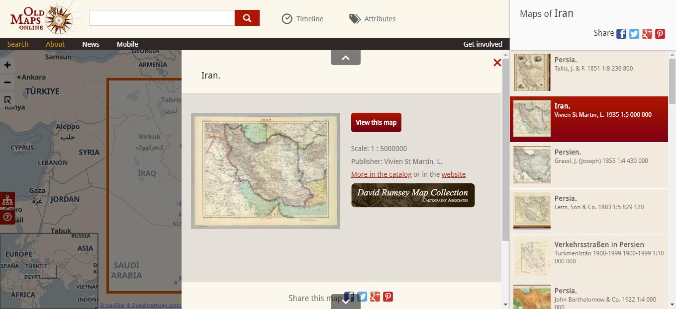نقشه های قدیمی آنلاین