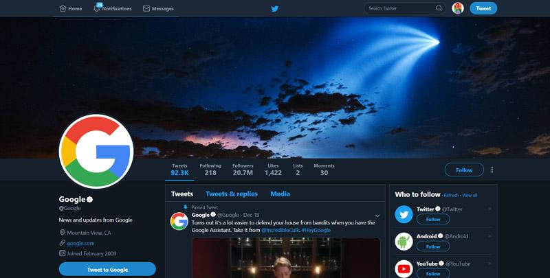 Dark Mode توییتر