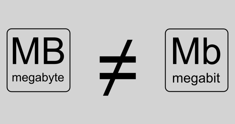 تفاوت بین یک مگابیت و یک مگابایت