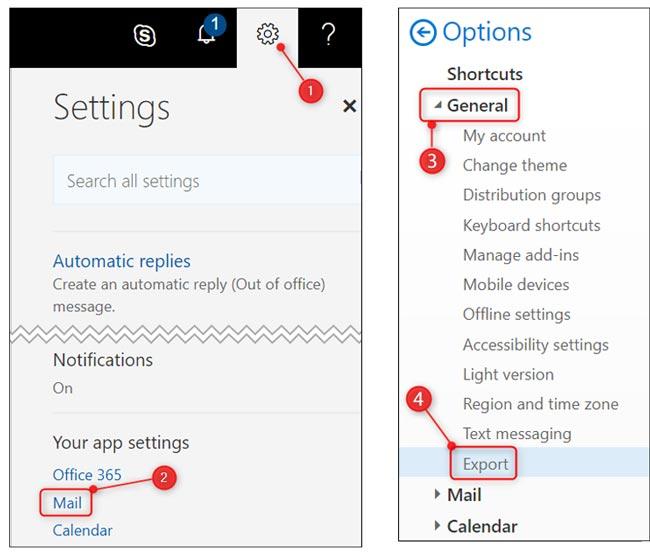 نحوه کار با تاریخچه جستجو ایمیل Outlook ( کلاسیک )