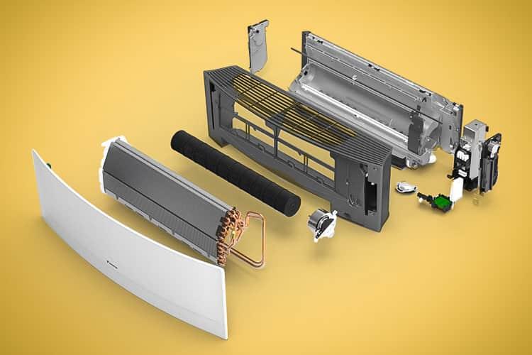 اجزای دستگاه داخلی کولر گازی