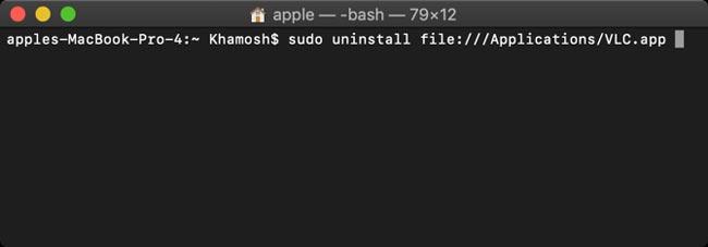 حذف برنامه سیستم عامل مک