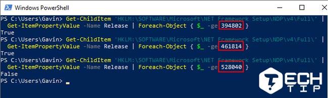 پیدا کردن نسخه NET Framework. ویندوز