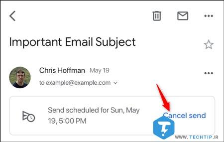 چگونهزمان بندی ایمیل را در دسکتاپ باید کنسل کرد