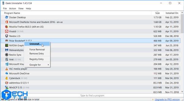 حذف کردن برنامه ها با Geek Uninstaller