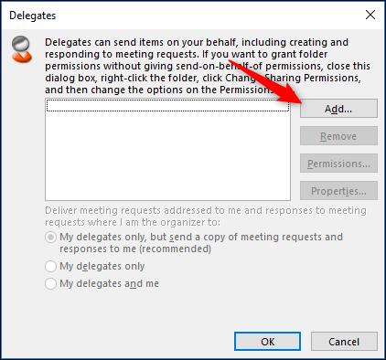 انتقال حساب Outlook به دیگر افراد