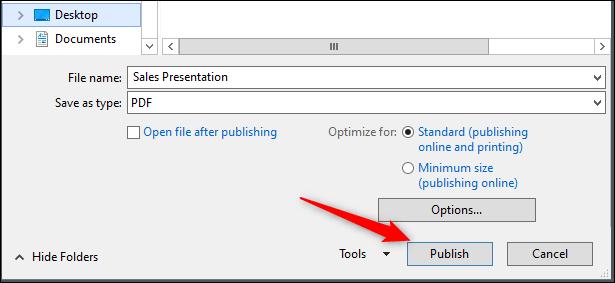 ذخیره فایل های پاورپوینت به فایل های PDF