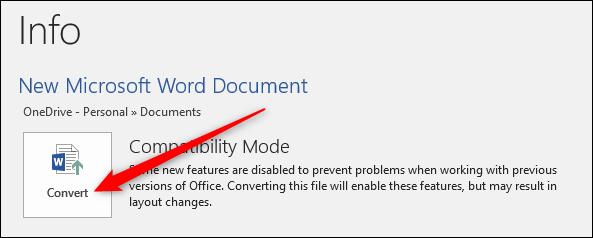 تبدیل فایل مورد نظر به فرمت DOCX برای کم کردن حجم ورد