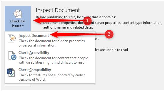 حذف کردن اطلاعات مخفی و شخصی از فایل ورد