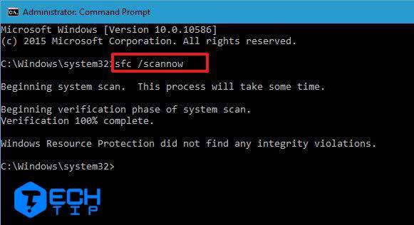 تعمیر فایل های سیستم با استفاده از SFC در ویندوز 10