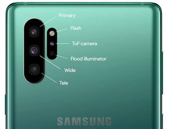چهار دوربین در عقب و دوربین سلفی عجیب سامسونگ Note 10