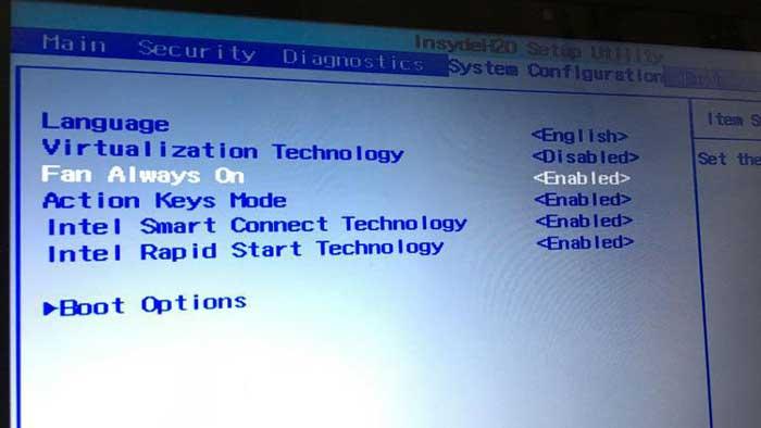 تنظیم گزینه های مربوط به سرعت فن کامپیوتر در محیط BIOS
