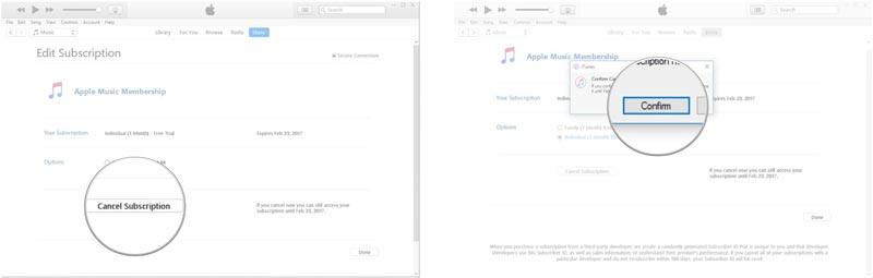 لغو کردن اشتراک اپل موزیک در آیتونز