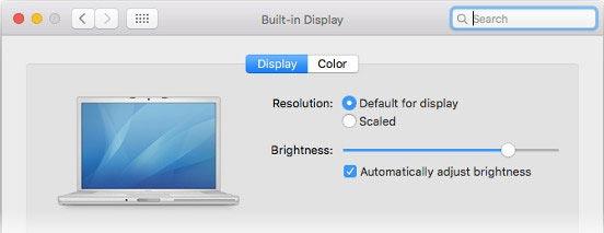 زیاد کردن نور صفحه لپ تاپ در سیستم عامل مک