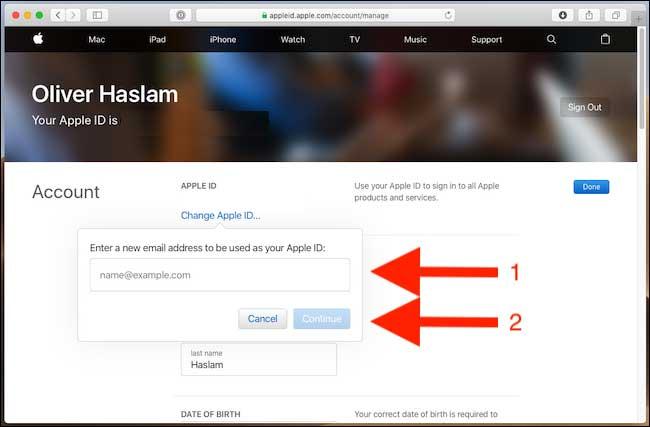 آموزش عوض کردن ایمیل اپل آیدی