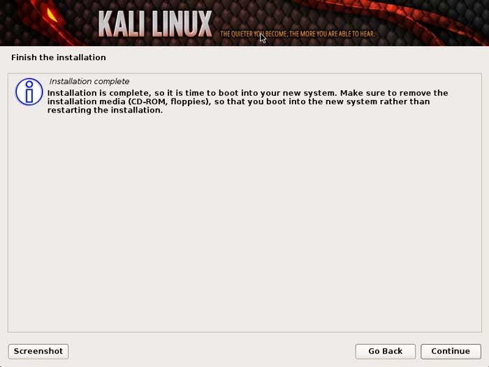 نحوه نصب کالی لینوکس