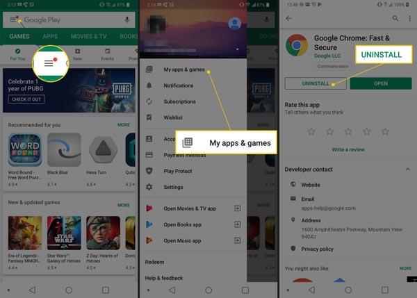 حذف برنامه های پیش فرض اندروید از طریق فروشگاه Google Play