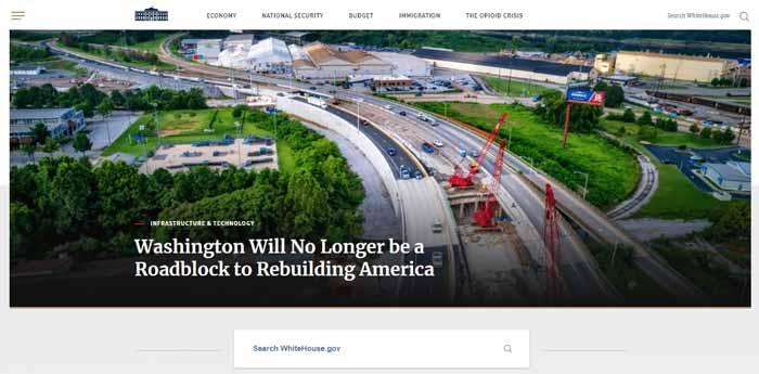 طراحی سایت با سیستم مدیریت محتوای وردپرس در Whitehouse.gov
