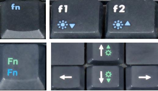 کم و زیاد کردن نور صفحه لپ تاپ با استفاده دکمه ها