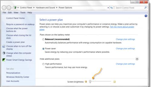 کم کردن نور صفحه لپ تاپ