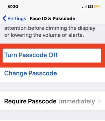 نحوه غیرفعال کردن رمز عبور در آیفون و آیپد