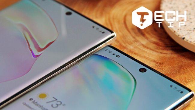 صفحه نمایش گلکسی نوت 10 پلاس : فناوری Infinity-O