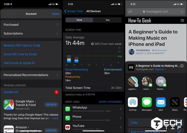 تم مشکی Dark Mode در iOS 13